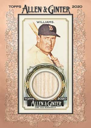 A&G Framed Mini Relics Ted Williams MOCK UP