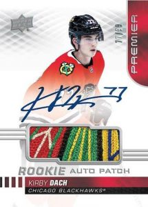 Acetate Rookie Auto Patch Kirby Dach MOCK UP