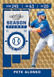 Contenders Optic Gold Vinyl Pete Alonso MOCK UP