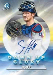 Dawn of Glory Auto Sam Huff MOCK UP