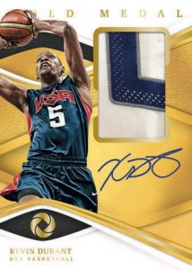 Gold Medal Jersey Auto Kevin Durant MOCK UP