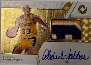 Golden Autographed Memorabilia Kareem Abdul-Jabbar MOCK UP