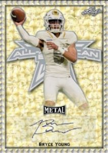 Metal Auto AAB Etch Gold Etch Bryce Young MOCK UP