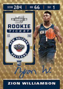 Rookie Ticket Auto Gold Vinyl Zion Williamson MOCK UP