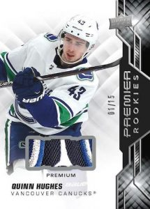 Rookies Premium Materials Relics Quinn Hughes MOCK UP