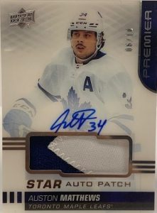 Acetate Star Auto Patch Auston Matthews