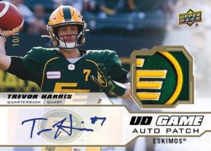 UD Game Jersey Auto Patch Trevor Harris MOCK UP