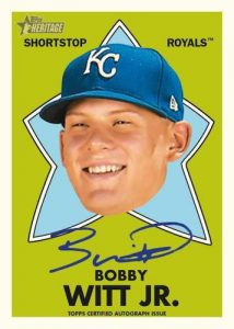 1971 Topps All-Star Rookie Auto Bobby Witt Jr MOCK UP