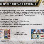 2020 Topps Triple Threads Baseball