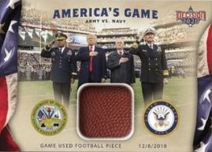 America's Game 2018 Army v Navy Relics Trump, Matis, Leaders
