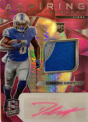 Aspiring Patch Auto Neon Pink D'Andre Swift