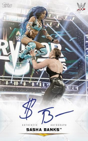 Autographed Oversized Boxloader Sasha Banks