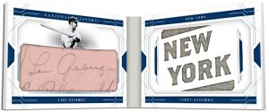Cut Signature Materials City Booklet Lou Gehrig MOCK UP