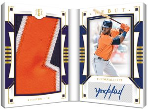Debut Materials Signature Booklet Holo Gold Yordan Alvarez MOCK UP