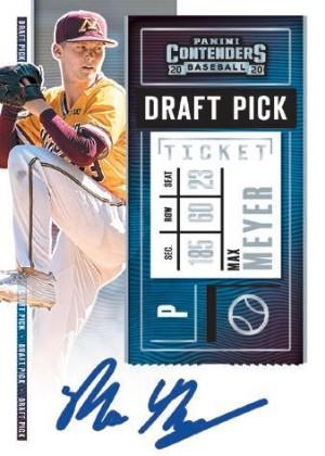 Draft Pick Ticket Auto Max Meyer MOCK UP