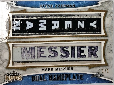 Dual Nameplate Steve Yzerman, Mark Messier