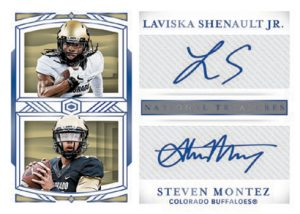 Dual Signatures Blue Laviska Shenault Jr, Steven Montez MOCK UP