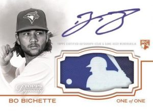 Dynasty Autographed MLB Silhoutted Batter Logo Patch Bo Bichette MOCK UP