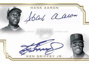 Dynasty Legendary Dual Auto Hank Aaron, Ken Griffey Jr MOCK UP