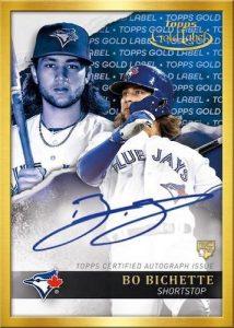 Framed Autographs Blue Bo Bichette MOCK UP