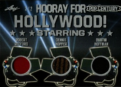 Hooray For Hollywood Triple Relics Robert Redford, Dennis Hopper, Dustin Hoffman