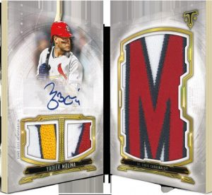 Letter Plus Auto Relic Yadier Molina MOCK UP