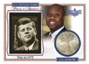 Pieces of America Quarter and Stamp Relics Tim Scott MOCK UP