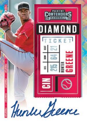 Prospect Ticket Auto Diamond Hunter Greene MOCK UP