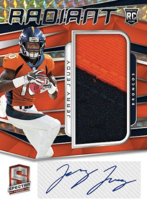 Radiant Rookie Patch Signatures Neon Orange Jerry Jeudy MOCK UP