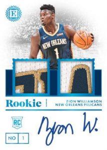 Rookie Jersey Auto Dual Platinum Zion Williamson MOCK UP