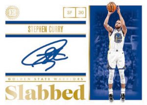 Slabbed Signatures Gold Stephen Curry MOCK UP