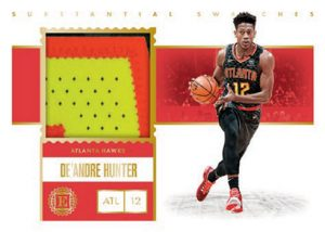 Substantial Swatches Rookie Prime De'Andre Hunter MOCK UP