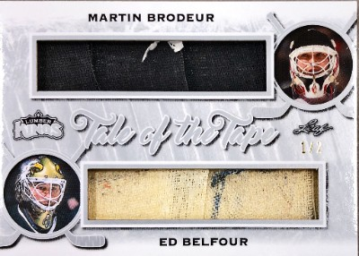 Tale of the Tape Relics Silver Martin Brodeur, Ed Belfour