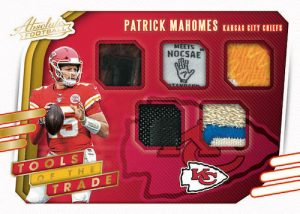 Tools of the Trade 5 Relics Patrick Mahomes II MOCK UP