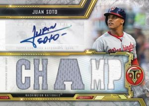 Triple Threads Auto Relic Juan Soto MOCK UP