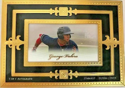 1-of-1 z24KT Framed Auto George Valera