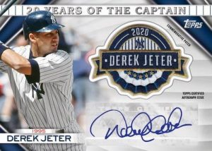 20 Years of the Captain Commemorative Patch Auto Derek Jeter MOCK UP