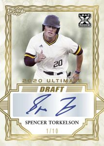 Base XRC Auto Gold Spectrum Spencer Torkelson MOCK UP