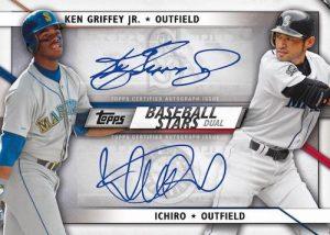 Baseball Stars Dual Auto Ken Griffey Jr, Ichiro MOCK UP