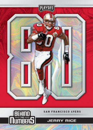Behind the Numbers Red Jerry Rice MOCK UP
