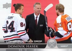 Ceremonial Puck Drop Dominik Hasek MOCK UP