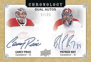 Dual Auto Carey Price, Patrick Roy MOCK UP