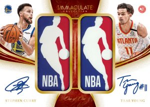 Dual Logoman Auto Stephen Curry, Trae Young MOCK UP