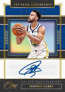 First Team Signatures Gold Stephen Curry MOCK UP