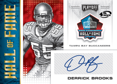 Hall of Fame Auto 4th Down Derrick Brooks MOCK UP