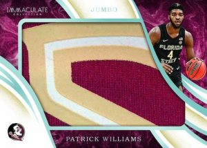 Immaculate Jumbo Patch Patrick Williams MOCK UP