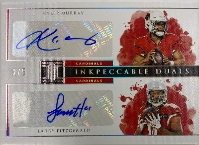 Inkpeccable Dual Auto Kyler Murray, Larry Fitzgerald