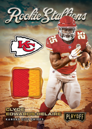 Rookie Stallions Relics Prime Clyde Edwards-Helaire MOCK UP