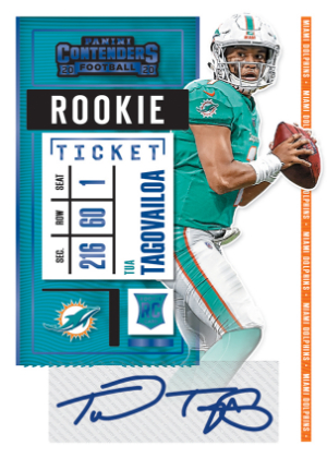 Rookie Ticket RPS Preview Blue Tua Tagovailoa MOCK UP