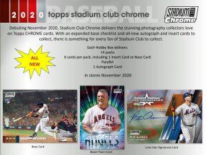 2020 Topps Stadium Club Chrome Baseball
